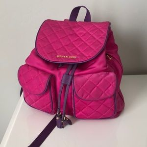 Michael Kors Pink Backpack